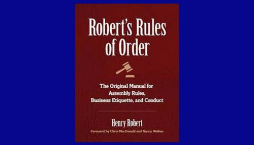 Robert's Rules Of Order Book