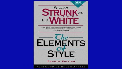 Strunk Elements Of Style