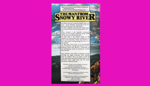 the man from snowy river poem pdf